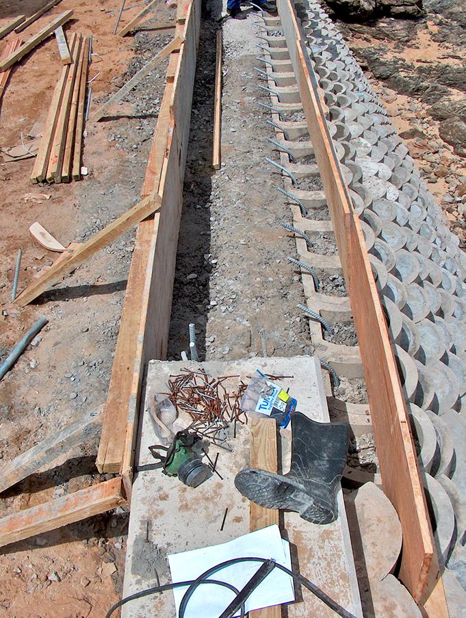 Shuttering for concrete barrier