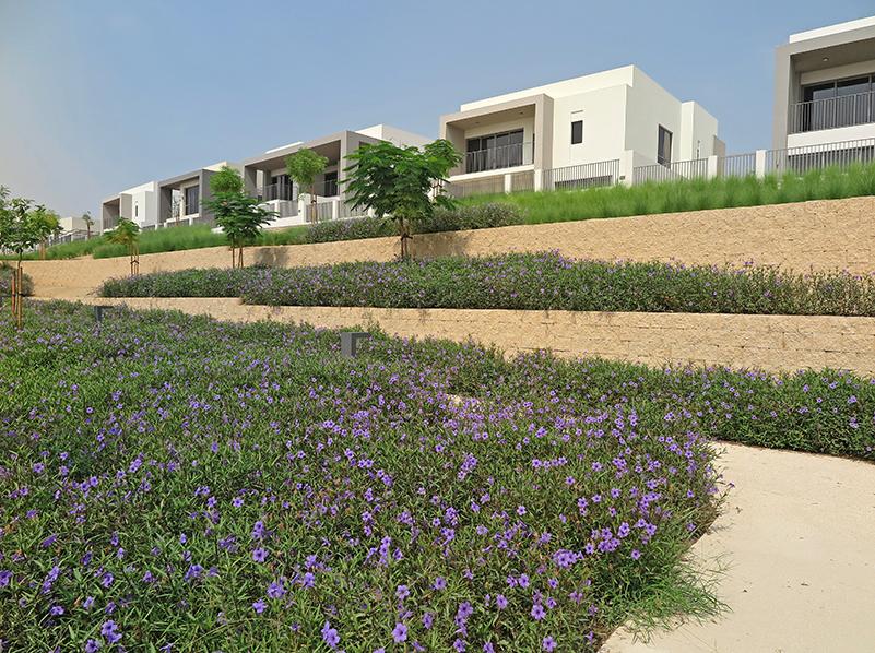Superb hardscape with Terraforce at Dubai Hills