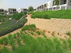 Terraforce was specified as an erosion control measure for the Estate