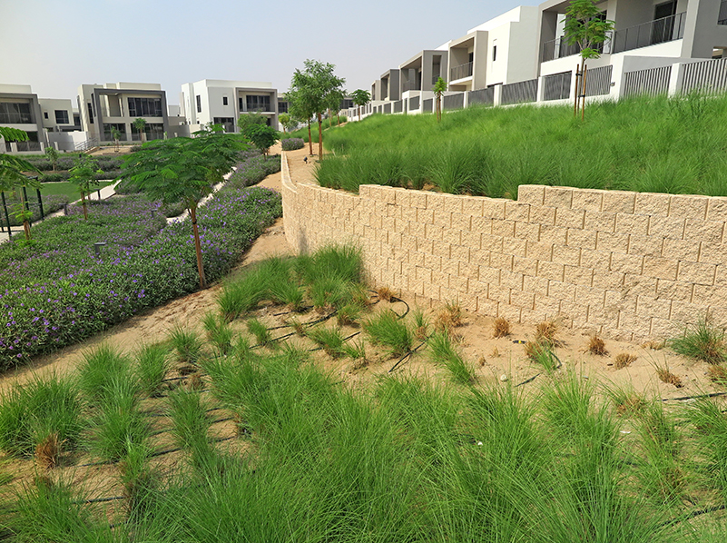 Terraforce was specified as an erosion control measure