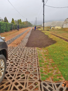 In August 2019 he added some shaping and planting to the road