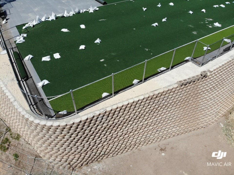 Terraforce walls at the new St Cyprians Hockey field