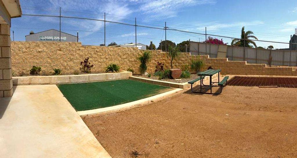 Backyard Terraforce retaining wall