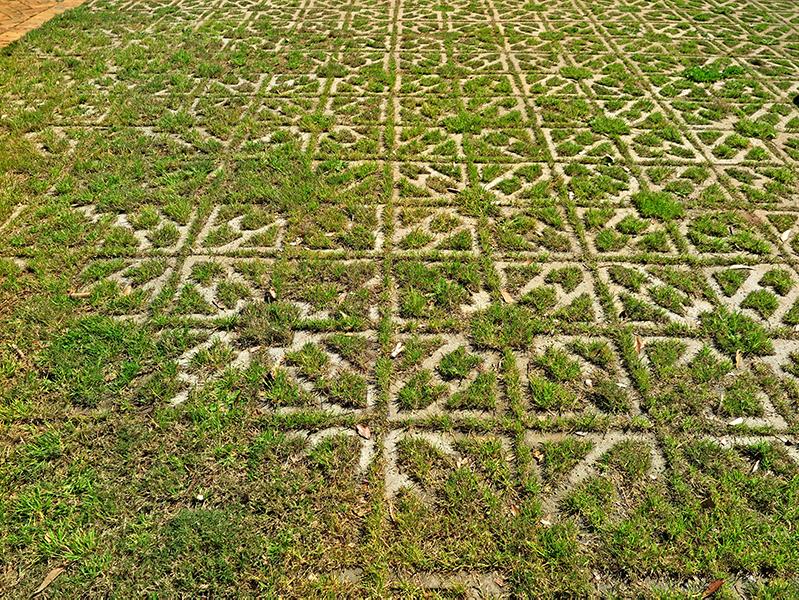 Fully planted Terracrete permeable pavers