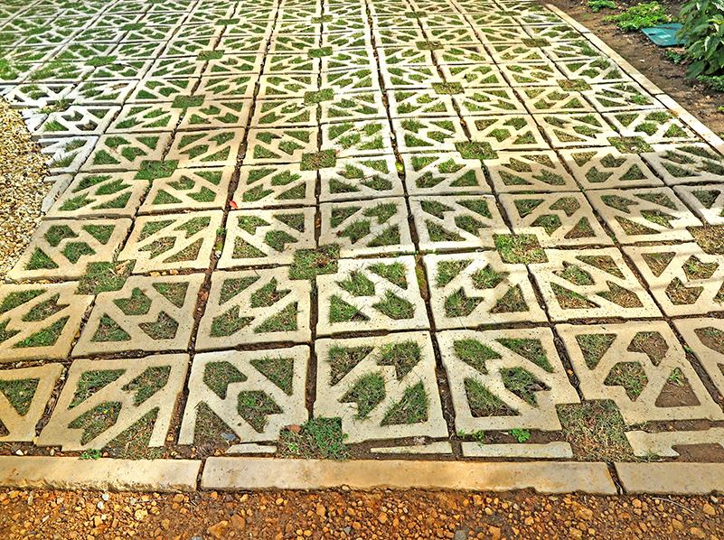 Terracrete Pavers, recently grassed, Glen Dirk Estate
