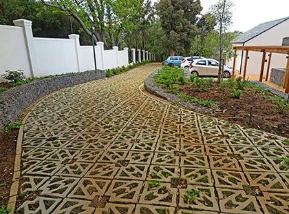 Terracrete eco-surface for a driveway and parking, Glen Dirk Estate