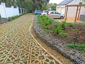 Terracrete eco-surface for a driveway and parking, Glen Dirk Estate