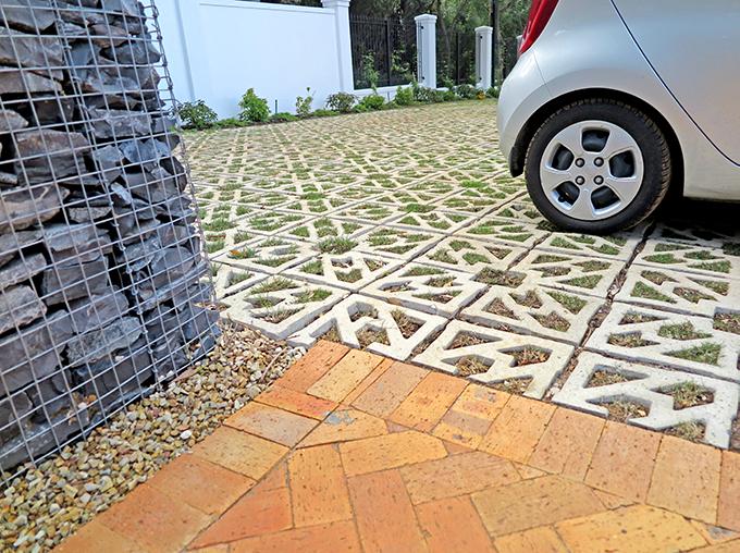 Recently grassed Terracrete blocks