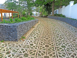Terracrete grass paver, recently planted, Glen Dirk Estate