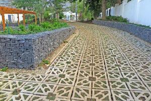Terracrete grass paver, recently planted, Glen Dirk Estate