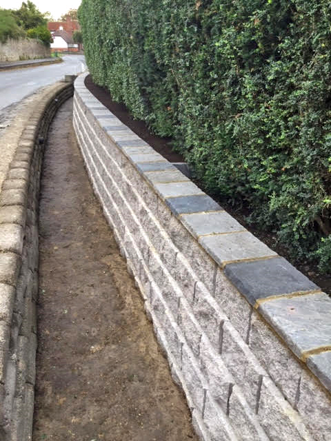 The new neat ditch wall