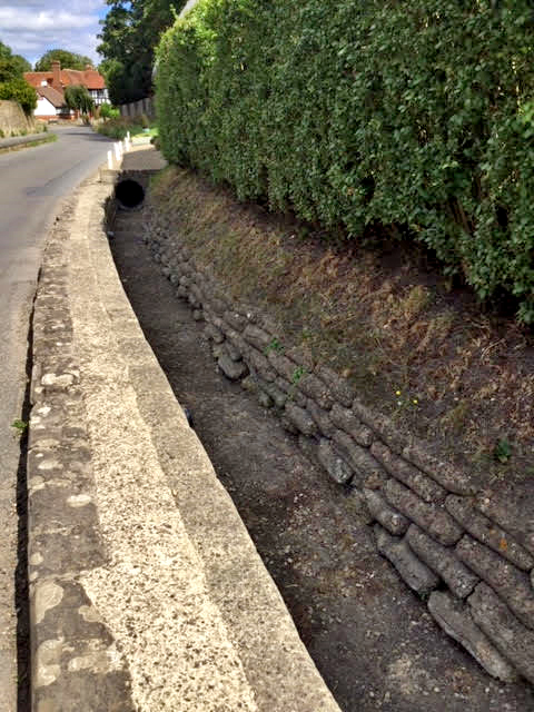 Road side ditch collapsing, UK