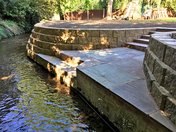 Riverside Terraforce retaining wall, UK