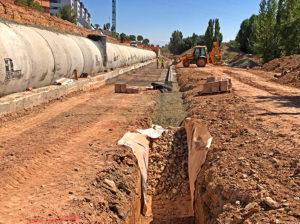 Gravel foundation as designed by ORBE Tecnicas Y Medioambiente