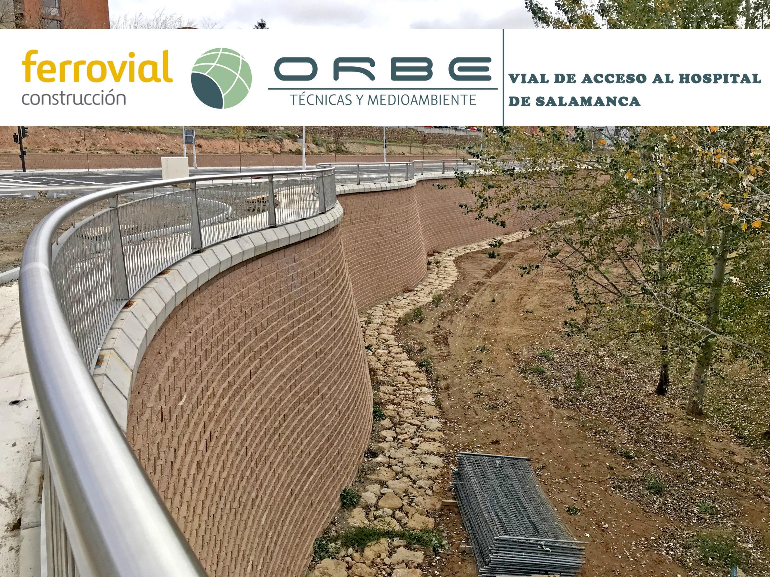 Beautifully curved Terraforce block wall, Salamanca Hospital, Spain