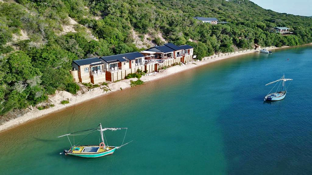Nhoxani Beach, meaning 'Peaceful Place', is a prime waterfront private housing estate on the bay of Maputo, situated on the magnificent Santa Maria peninsula, Mozambique.