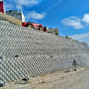 Progress with the Terraforce wall in Rabat, Morocco