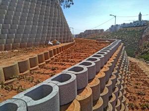 Terraces provide space for plants