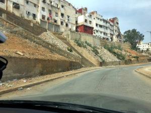 The degraded slope before Terraforce installation