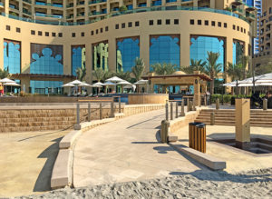 The final result: ramps, stairs and retaining walls at a prestigious hotel in the UAE