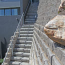 4x4 Step block long staircase and Terraforce rock face wall