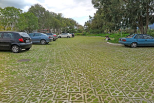 Terracrete eco-surface for a driveway and parking, Busamed Hospital