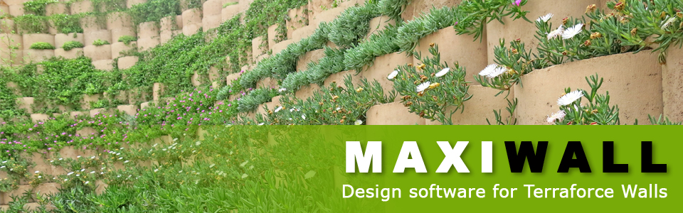 Maxiwall Pro, free, state of the art MSE software, exclusively for Terraforce walls