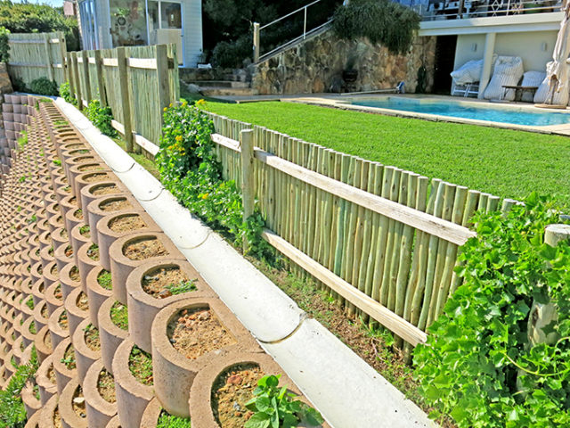 Open drainage channels and Terraforce walls