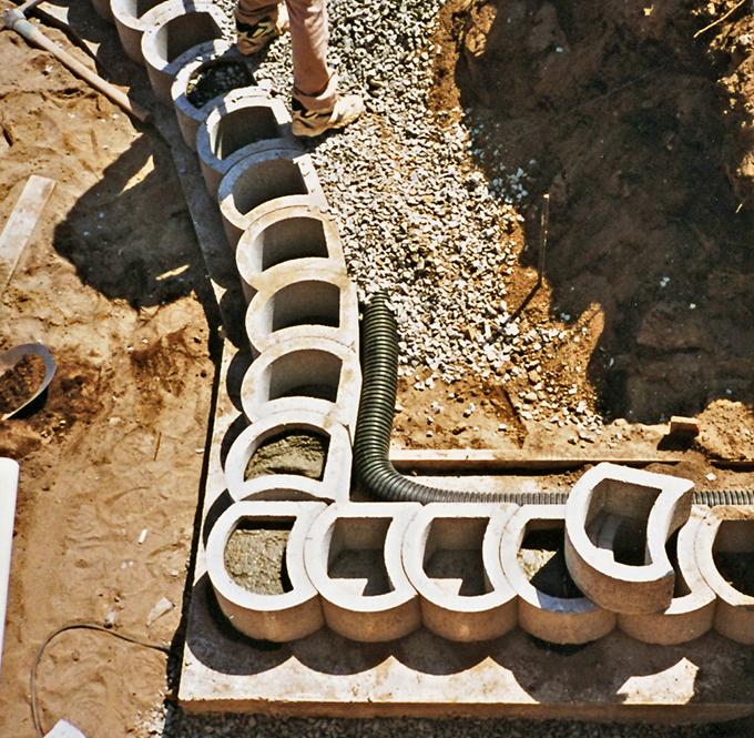 subsoil drain with Terraforce wall