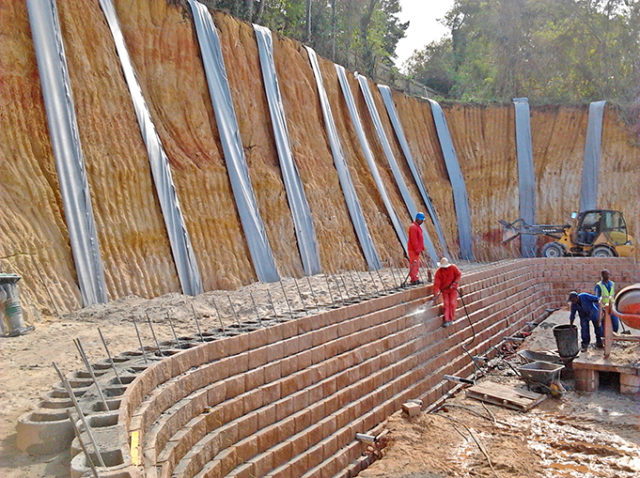 Wick drain and Terraforce wall Swaziland