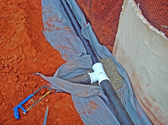 Wick drain and Terraforce wall